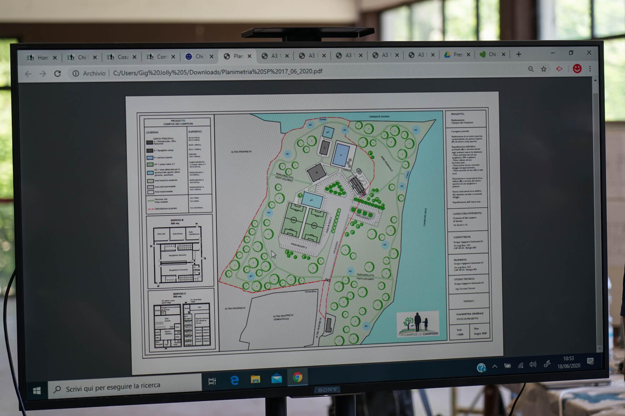 mappa campus dei campioni