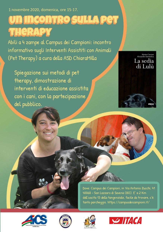 Pet-therapy Bologna Campus dei campioni